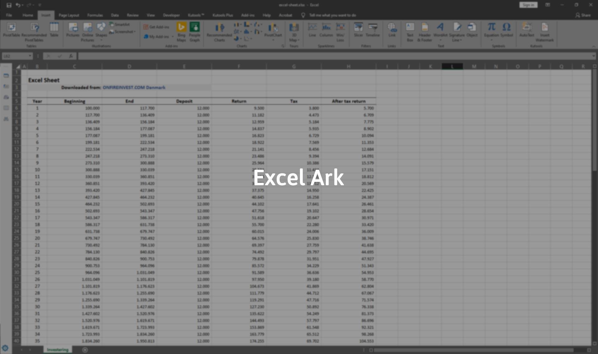 Download Excel Ark Gratis